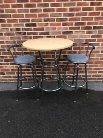 Tall Table and Two stools