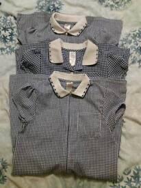 3x navy school summer dresses size 8-9 years