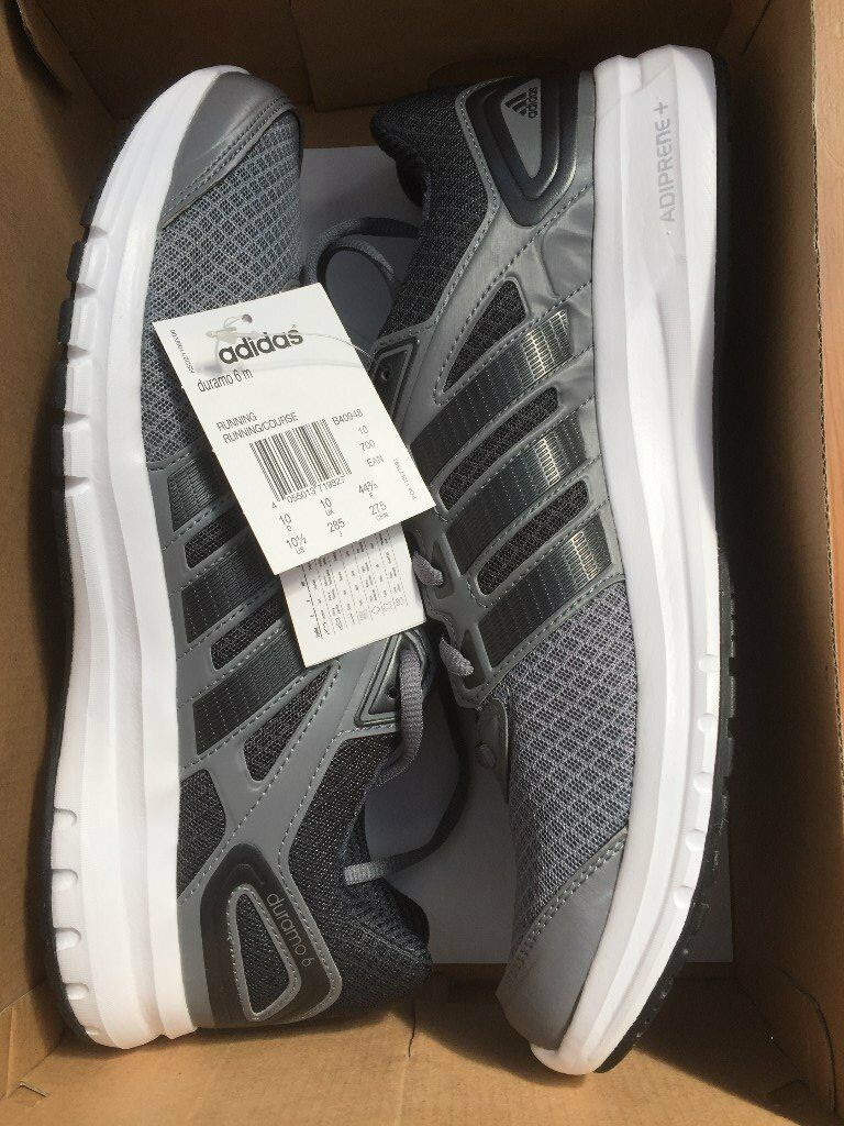 Mens Adidas Duramo 6 running shoes, size 10. BNIB BNWTin Gateshead, Tyne and WearGumtree - New / unused trainers, as can be seen in the photos. Bought online but a bit too small and lost the paperwork to send them back. Collection from Dunston (near the Metro Centre)