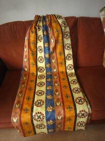 Pair of multicoloured curtains