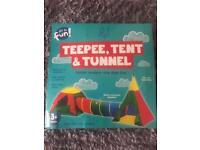 Teepee, Tent and Tunnel