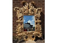 HUGE Gold Mirror - French / Ornate / Rococo Mirror - Very Thick & Chunky - 6 Foot Tall - Stunning