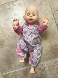 Baby Annabelle learns to walk, crawl & talk.