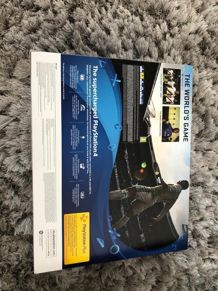 Brand New Unopened PS4 Pro 1TB With FIFA 18 For Sale !!!