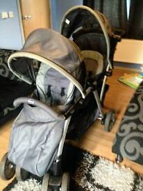 Chicco double pushchair
