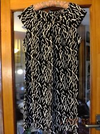 """Ellie Louise"" straight black/white dress size 12"