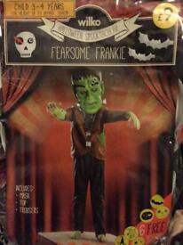 Fearsome frankie Halloween costume 3/4 years £4