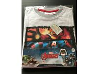 Avengers Pyjamas, Long-Sleeve and Long-Trouser - White/ Grey - £8 - Age 8 - Brand New with Tags