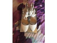 New gladiator white shoes size 7