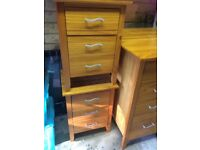 2 x solid bedside cabinets