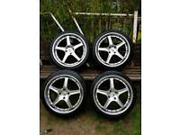 """Alloys 18"""" with tyres"""
