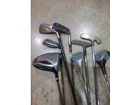 Golf clubs, woods, wilson, dunlop x22