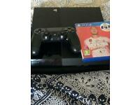ps4 500gb with fifa20 ,controller and all cables