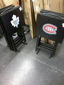 Set of 4 TV Trays with Tray Rack Now only $99 taxes included until Labor Day