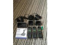 BT 7600 trio phone set inc. answer phone with inst. chargers etc.