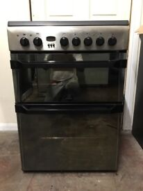 Indesit electric cooker 60cm stainless steel double oven 3 months warranty free local delivery!!!!