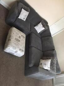 Grey DFS corner sofa