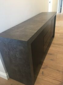 Concrete effect sideboard