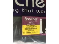 Chefs trousers brand new plain black