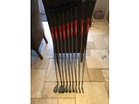 Callaway Apex Irons Forged (RH) SW to 4 iron. Golf Pride grips, True Temper XP95 shafts.