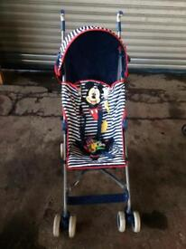 Mickey Mouse pushchair/stroller