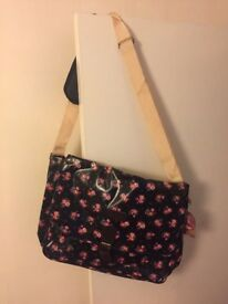 Lee Cooper Womens Black Pink Casual Floral Tote Carry Handbag RRP 24.99 NEW