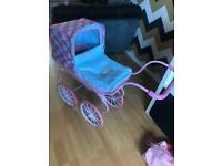Baby annabell toy vintage pram