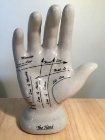 Ceramic palmistry hand