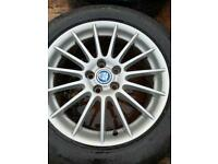 "Jaguar 17"" XF alloys wheels with tyres"
