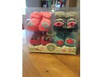 New baby girl bootie/socks