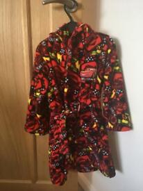Lightning McQueen Dressing Gown 3-4yrs