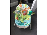 Baby bouncer with toy play bar