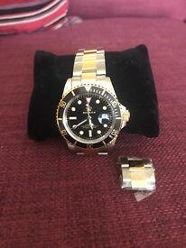 Men's Reginald Rolex submariner homage watch