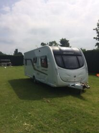 2012 swift caravan fixed bed 4 berth
