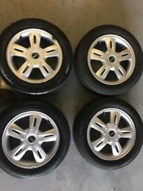Mini wheels, very good condition, with tyres.