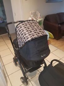SILVER CROSS WAYFARER LTD EDITION SAFARI PRINT PRAM