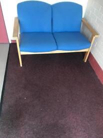 Beech & Fabric - Blue Seats