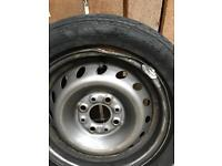 "13"" steel wheel and tyre"