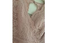 Sophie gray - pink wedding guest dress- size 20