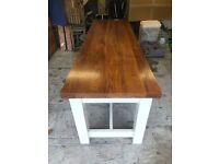 Beautiful Solid Walnut-Topped Dining/Kitchen Table. Seats Up to 10. Over £1,000 New.