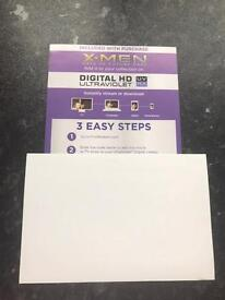 X-Men Days Of Future Past & Apocalypse Digital HD Ultraviolet Codes Only
