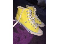 Superdry Yellow High Tops. Size 3
