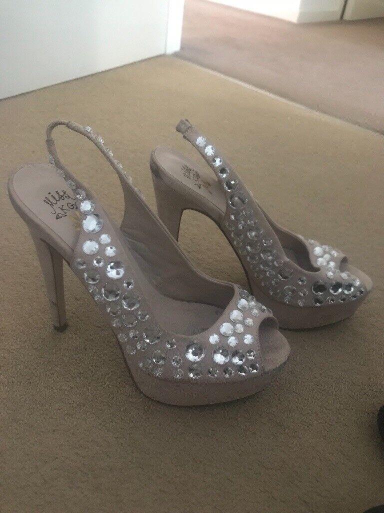 Size 40 kurt Geiger heels with diamanté