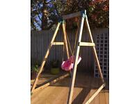TP wooden swing and little tikes seat