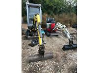 Digger hire, man and machine. Dumper hire, Micro digger