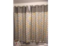 Duck egg coloured curtain