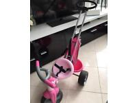 Childs early learning push along trike