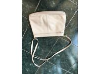Cream Leather Handbag