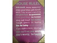 House sign for the wall unwanted gift house rules