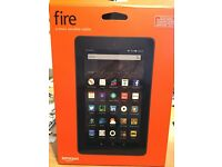 "Amazon Fire 7"" tablet 16 GB. Tangerine, WIFI With Amazon black case worth £19.99."